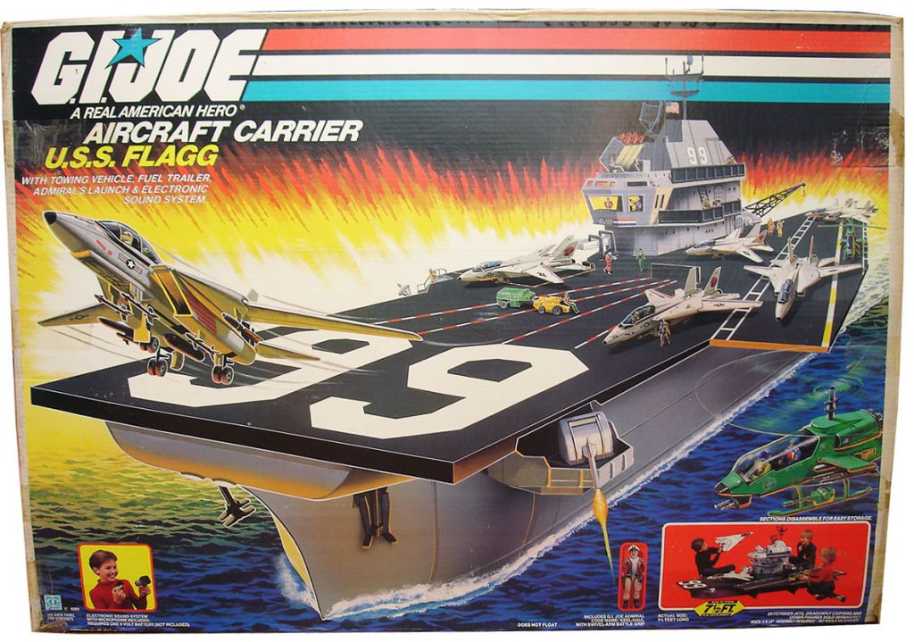 G i joe 1985 porte avions aircraft carrier u s s flagg - Porte avion gi joe a vendre ...