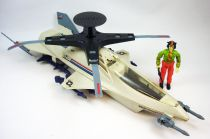 G.I.JOE - 1988 - Skystorm X-Wing Chopper & Windmill (loose)