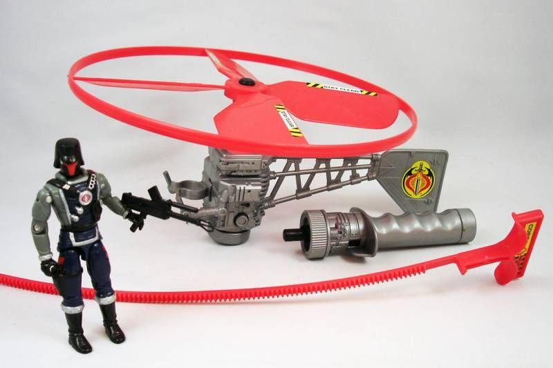 G.I.JOE - 1991 - Cobra Battle Copter & Interrogator (loose)