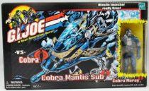 G.I.JOE - 2002 - Cobra Mantis Sub with Cobra Moray