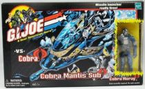 G.I.JOE - 2002 - Cobra Mantis Sub with Cobra Moray