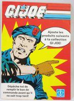 "G.I.Joe - Hasbro France 1989 catalog insert \""Promotional Offers Steel Brigade\"""