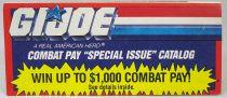 """G.I.Joe - Hasbro USA 1991 catalog insert \""""Combat Pay\"""""""