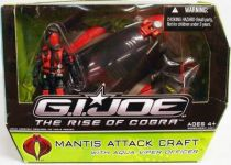 G.I.JOE 2009 - Mantis Attack Craft & Aqua-Viper Officer (loose with box)