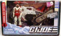 G.I.JOE 2010 - Cobra Ice Cutter with Snow Serpent Officer (loose with box)