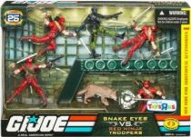 G.I.JOE ARAH 25th Anniversary - 2008 - Battle Pack - Snake Eyes vs. Red Ninja Troopers