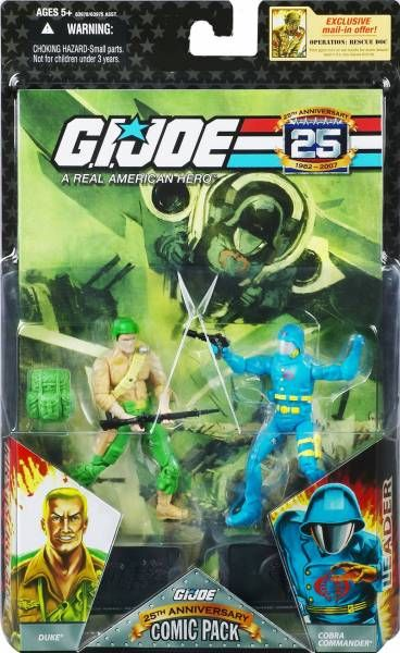 G.I.JOE ARAH 25th Anniversary - 2008 - Comic Pack - Duke & Cobra Commander : \\\'\\\'The Commander escapes\\\'\\\'
