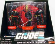 G.I.JOE ARAH 25th Anniversary - 2008 - Iron Grenadier Command : Officer, Destro, Trooper