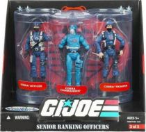 G.I.JOE ARAH 25th Anniversary - 2008 - Senior Ranking Officers - Cobra Officer, Cobra Commander, Cobra Trooper