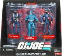 G.I.JOE ARAH 25th Anniversary - 2008 - Senior Ranking Officers - Cobra Officer, Cobra Commander, Cobra Trooper