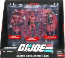 G.I.JOE ARAH 25th Anniversary - 2008 - Senior Ranking Officers - Crimson Guard Trooper, Cobra Commander, Crimson Guard Officer