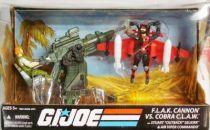G.I.JOE ARAH 25th Anniversary - 2009 - Cobra C.L.A.W. & Strato-Viper vs. F.L.A.K. Cannon & Outback