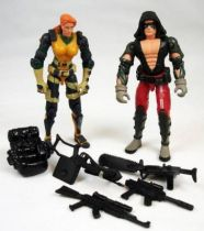 G.I.Joe vs. Cobra - 2002 - Agent Scarlett & Zartan (loose)