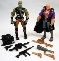 G.I.Joe vs. Cobra - 2002 - Beach Head & Dr. Mindbender (loose)