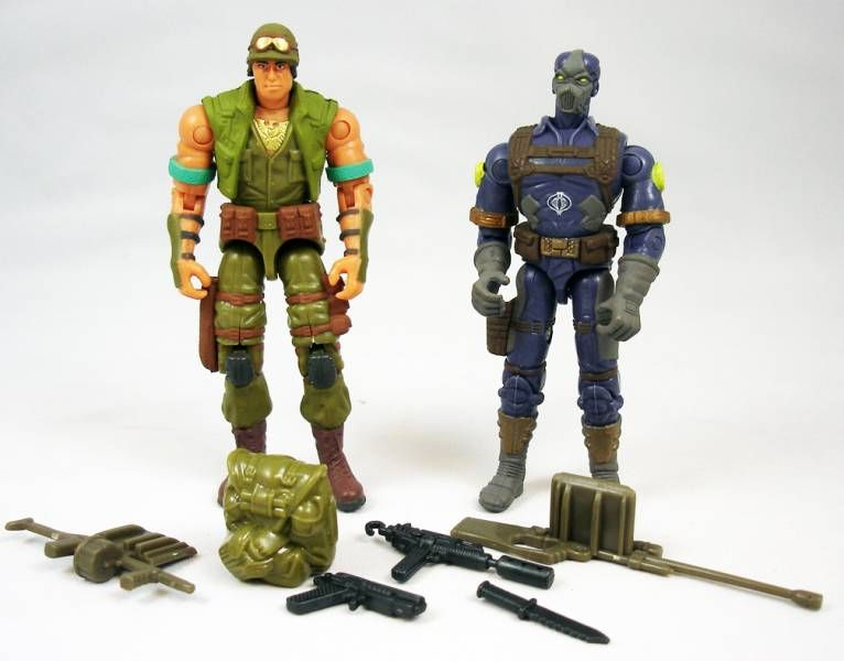 G.I.Joe vs. Cobra - 2002 - Dart & Cobra CLAWS (loose)
