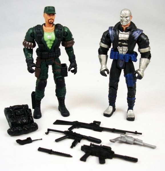 G.I.Joe vs. Cobra - 2002 - Gung-Ho & Destro (loose)