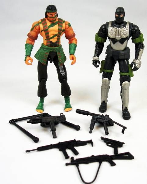 G.I.Joe vs. Cobra - 2002 - Nunchuk & Firefly (loose)