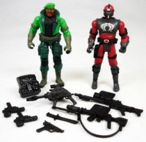 G.I.Joe vs. Cobra - 2002 - Sgt. Stalker & Neo-Viper Commander (loose)