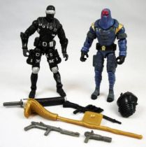 G.I.Joe vs. Cobra - 2002 - Snake Eyes & Cobra Commander (loose)