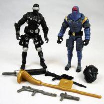 G.I.Joe vs. Cobra - 2002 - Snake Eyes & Cobra Commander (loose)
