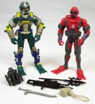 G.I.Joe vs. Cobra - 2002 - Wet-Suit & Cobra Moray \'\'repaints\'\' (loose)