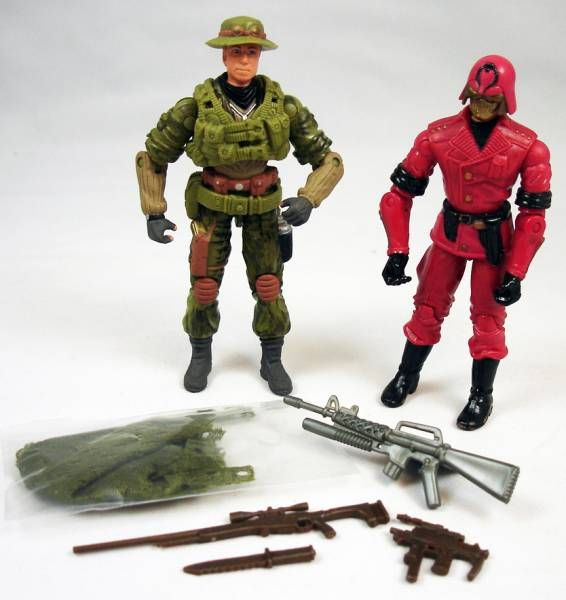 G.I.Joe vs. Cobra - 2003 - Cross Hair & Cobra CLAWS Comander (loose)