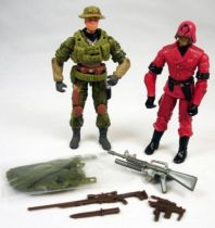 G.I.Joe vs. Cobra - 2003 - Cross Hair & Cobra CLAWS Comander (loose)