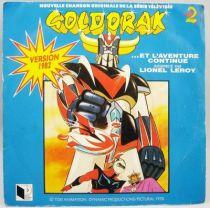 Goldorak 4 Et l\'aventure continue par Lionel Leroy - Disque 45Tours Saban 1982