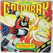 Le Retour de Goldorak BO par Minet - Disque 45Tours AB Kids 1987