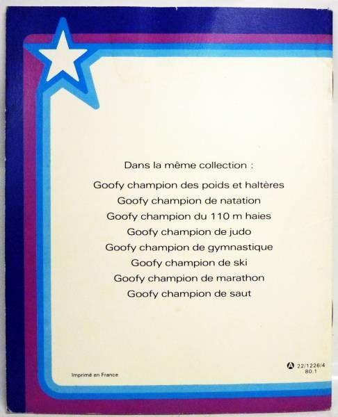 Goofy - Hachette Petite Fleur editions - Goofy in Olympics: Jumping champion