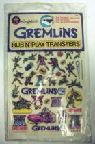 Gremlins Colorforms rub n\' play transfers