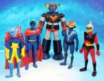 Grendizer - Fabianplastica - PVC Figures set - Duke Fleed, Koji Kabuto, Grendizer, Gandal & Blacki