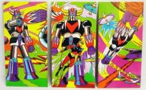 Grendizer - Set of 3 large vintage cardboard pictures