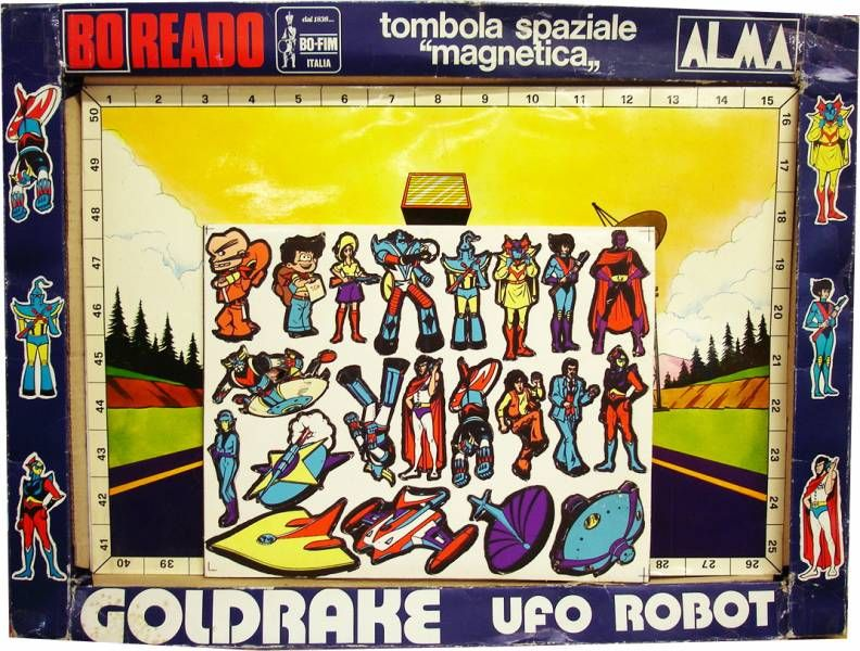 Grendizer Board Game - Magnetic Space Tombola - Boreado