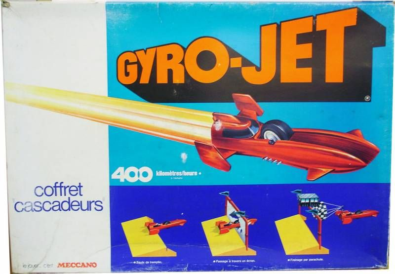 Gyro-Jet Stunt Car set - Meccano France
