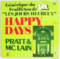 Happy Days - Mini-LP Record - TV Series Original Soundtrack (Pratt McLain) - WEA records 1976