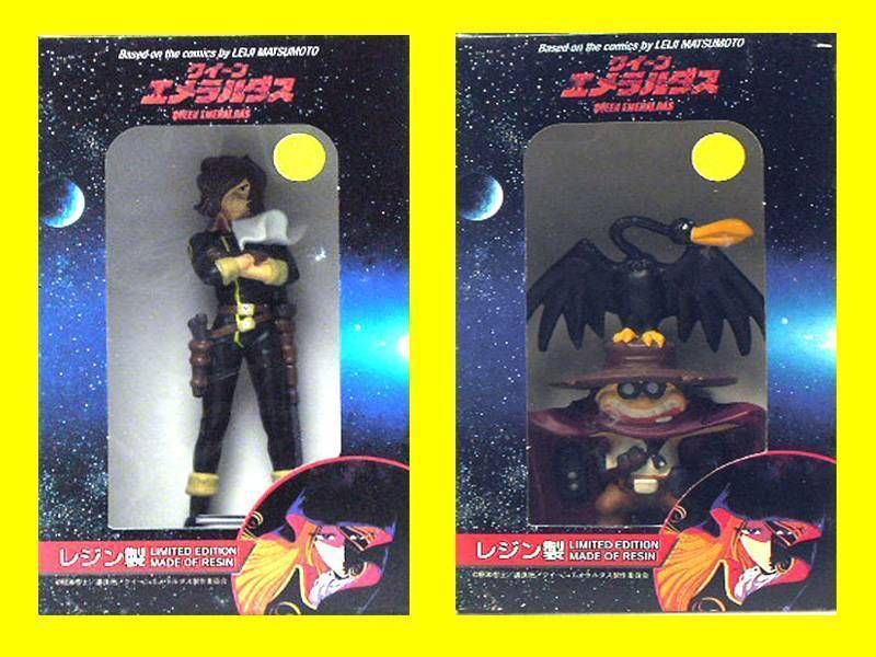 Harlock & Tochiro - set of 2 resin figures - Able (mint in box)