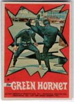 he Green Hornet bubble gum sticker N° 8