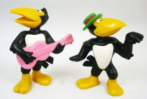 Heckle & Jeckle - Set de 2 Figurines PVC Bully 1981