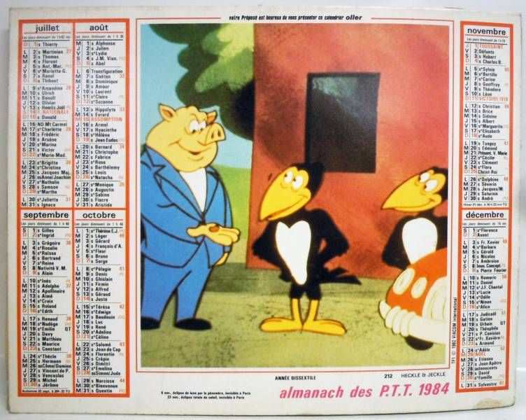 Heckle and Jeckle - 1984 Post Office Calandar