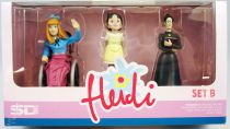 Heidi - Figurines pvc Set B : Clara, Heidi et Mlle Rottenmeier - SD Toys