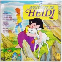 Heidi - LP Book-Record - The adventures of Heidi - Ades Le petit Menestrel records 1981