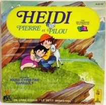 Heidi - Mini-LP Book-Record - Heidi, Pierre et Pilou - Ades 1981