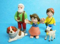 Heidi - set of 5 PVC  Heimo figures (+ Display Store)