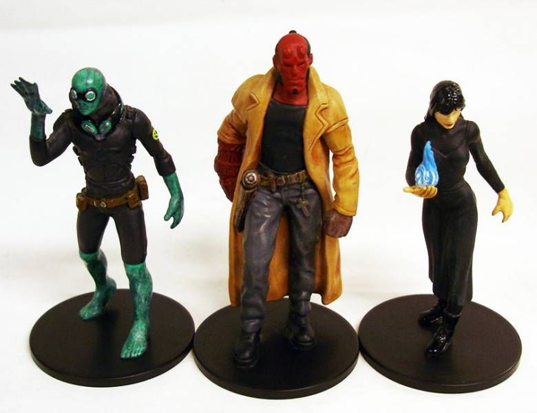 Hellboy - Set of 3 pvc figures : Hellboy, Abe Sapien, Liz Sherman