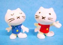 Hello Kitty - Complete set of 2 Bully PVC Figure 1974