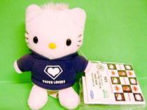 Hello Kitty - Keychain Plush - Super Lovers (Blue Sweet Shirt) - Banpresto 2003