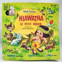 Hiawatha le Petit Indien - Livre-disque 33t1/3 (format 45t) - Histoire racontée par Marthe Mercadier - Disneyland Record 1969