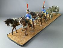 Historex - Napoleonic - Gun Carriage Ammo Box 1812 with 4 horses and 2 Mounted