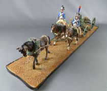 Historex - Napoleonic - Gun Carriage of the Guard with 3 horses and 2 Mounted